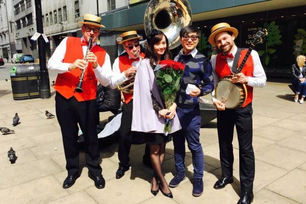Silk Street Jazz surprise proposal
