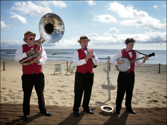 Silk Street Jazz provides beach wedding entertainment hire