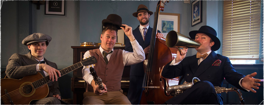 The Jazz Spivs are a new 1920s jazz band now playing all over the UK